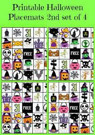 printable placemats for halloween faithfully free