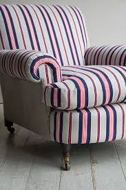 Deep Armchair Striped Victorian Deep Seated Easy Armchair Howe London