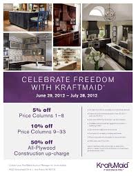 kraftmaid celebrate freedom promotion custom kitchen designs