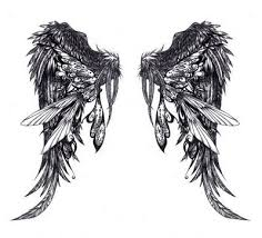 evil wings 5 point tattoos