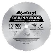 table saw blade width avanti 10 in x 200 teeth osb plywood saw blade a10200x the home depot