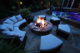 Fire Pit Lava Rock by Atlanta Pool Builder Fireplaces Fire Pits Backyard Fire Features