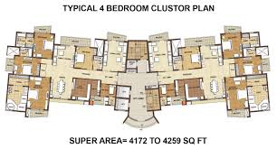 Hexagon Floor Plans Omaxe The Forest 4 Bhk Flats In Faridabad