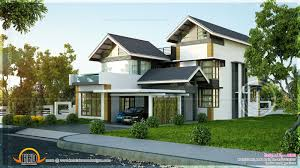 Slanted Roof House Modern Sloping House Plans Ideas With Sloped Roof Luxury Kerala