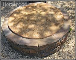 homemade fire pit table diy fire pit and cover hometalk