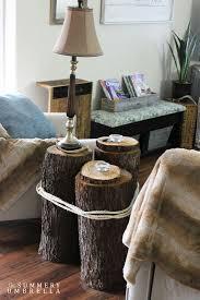 how to make a tree stump table diy tree stump table the summery umbrella