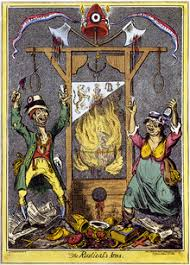 Symbol of the peoples mockery of the guillotine