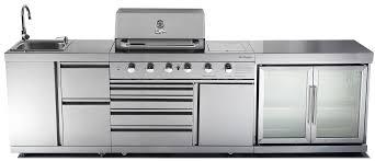 outdoor kitchen chefmaster galley series 4 burner bbq twin