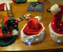 christmas santa and elf led hats 4 steps with pictures