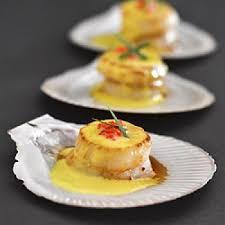 cuisiner st jacques coquilles jacques au safran recettes de cuisine française