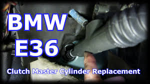 bmw 1992 325i e36 clutch master cylinder replacement youtube