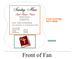 custom church fans personalized church fans wholesale free shipping
