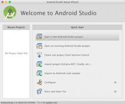 android studio dashboard tutorial beginning android development part one installing android studio