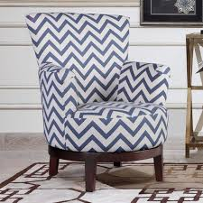 Swivel Accent Chair Swivel Accent Chair With Blue And White Chevron Pattern Free