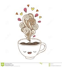 Cute Coffee Cups Cute Cartoon Coffee Cup With Doodle Steam Stock Vector Image