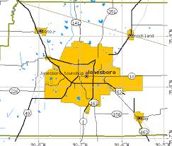 map of jonesboro ar jonesboro township craighead county arkansas ar detailed profile