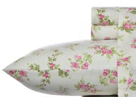 amazon com laura ashley flannel sheet set audrey pink queen