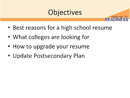 Resume Update Update Resume 11 Th Grade Postsecondary Visits And Admissions 2
