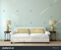 classic livingroom interior white couch near stock illustration