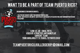 team puerto rico roller derby world cup home facebook