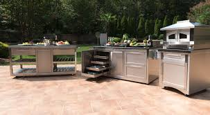 Powder Coating Kitchen Cabinets by Stainless Steel Outdoor Kitchen Cabinets Sloan Outdoors Sloan
