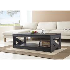 Dark Wooden Table Top Living Room Dark Brown Wooden Table With Under Shelf Opener And