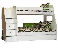 enterprise twin over full size bunk bed with staircase bedroom