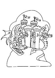 coloriage dragon chateau sur hugolescargot com