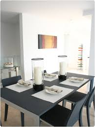 Dining Table Candles Dining Room Description Charcoal Gray Wood Dining Table