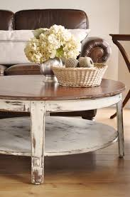 Distressed Table Round Distressed Coffee Table
