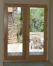 Etched Glass Exterior Doors Wonderful Etched Glass Front Doors Frosted Entry Ferns 2d Antique