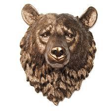 Taxidermy Bear Rug Near And Deer Faux Taxidermy Bear Head Wall Décor U0026 Reviews Wayfair