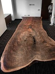 Live Edge Conference Table Massive Live Edge Claro Walnut Conference Table U2014 Taylor Donsker