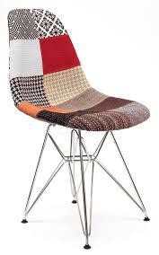 replica eames dsr eiffel chair multi coloured patches chrome legs