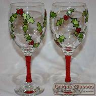 christmas glasses personalised christmas glasses unique glasses