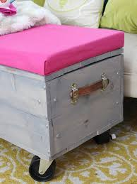 diy rolling storage ottoman chaotically creative