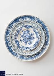 vintage china blue garden collection casa de perrin