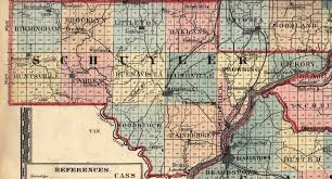 Illinois Map With Counties schuyler county illinois maps and gazetteers