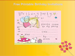 free printable birthday invitations boys and girls