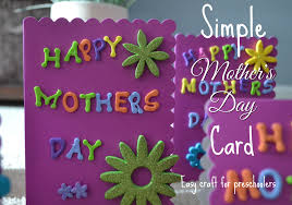 craft for preschoolers simple mothers day card