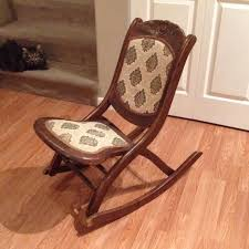 Folding Rocking Chair Find More Antique Victorian Campaign Folding Rocking Chair