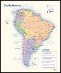 america map political south america political wall map by geonova
