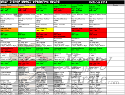 october disney world crowd calendar park hours kennythepirate 5