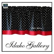 Black Curtains With Valance Black And White Polka Dot Valance Foter