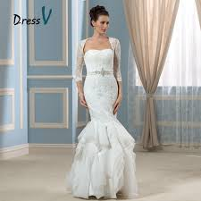 wedding dresses with 1 4 sleeves luxury two piece mermaid wedding