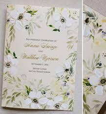 Custom Wedding Programs Annie S Floral Wreath Wedding Invitationsmomental Designs