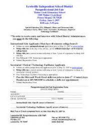 Paraprofessional Resume Sample Paraprofessional Resume Sample Health Care Resume Sample