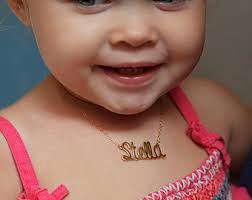 baby name necklace gold baby necklace etsy