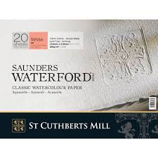 saunders waterford watercolour papers white sheets rough