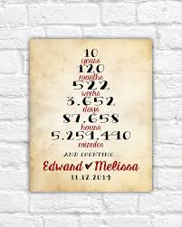 10 year anniversary gift husband anniversary gift custom one year 1st anniversary ten 10 year